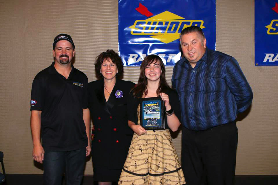 World of Speed Jr Dragster Specialty Awards Driver of the Year Alisha Miller